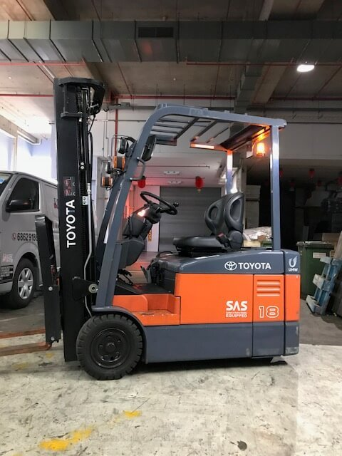 Toyota battery forklift