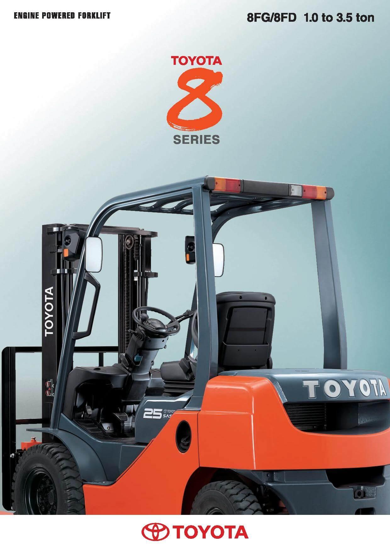 Toyota diesel forklift